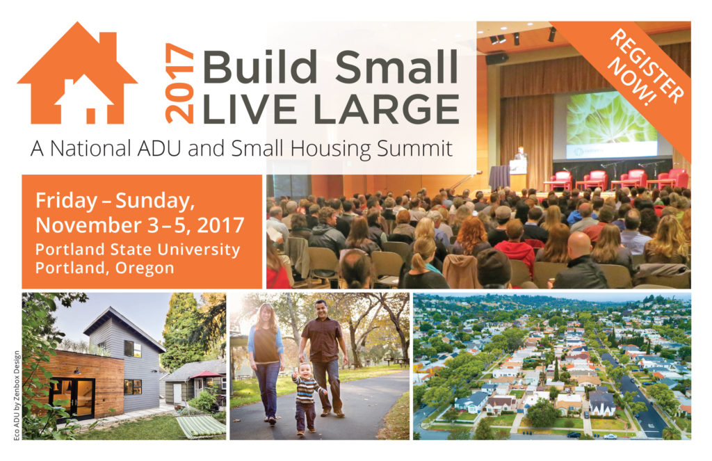 Build small live large a national adu summit for How to build an adu